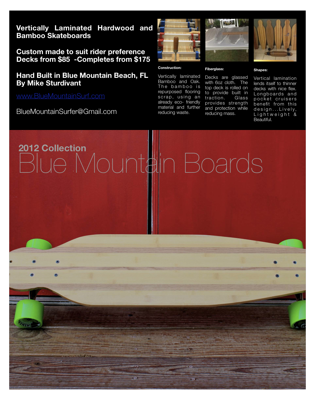 Blue mountain boards flyer